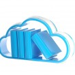 Cloud technology database icon isolated — Stock Photo