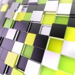 Futuristic copyspace background of cubic plates — Stock Photo
