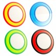 Set of four circular round copyspace emblem icons — Stock Photo