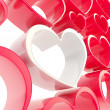 Copyspace love background made of heart shapes — Stock Photo #12071606
