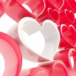 Foto Stock: Copyspace love background made of heart shapes