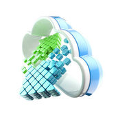 Cloud computing-technologie-symbol-emblem — Stockfoto