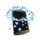 Mobilní telefon cloud computing koncepce — Stock fotografie