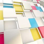 Cube abstract copyspace background — Stock Photo