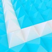 Abstrato base feita de pirâmides — Fotografia Stock