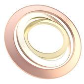 Oro, copyspace metal plateado, bronce ronda Marcos círculo — Foto de Stock