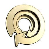 Circular copyspace emblem icon made of three arrows — Stock Photo