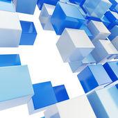 Sfondo astratto fatto di cubi lucidi — Foto Stock