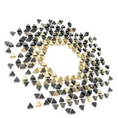 Abstract copyspace hexagon frame background isolated — Stock Photo