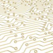 Schéma puce microcircuit comme abstrait — Photo