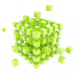Royalty-Free Stock Photo: Abstract backdrop made of green cube composition