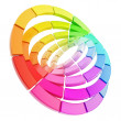Color range spectrum circle round palette composition - Stock Photo
