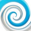 Постер, плакат: Twirled curve tube vortex as abstract background