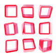 Copyspace cube square shelf boxes isolated — Stock fotografie