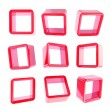 Copyspace cube square shelf boxes isolated — 图库照片