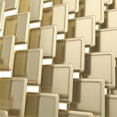 Streszczenie tło płytek kwadratowych błyszczący złoty — Zdjęcie stockowe