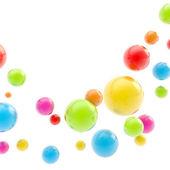 Abstracte copyspace achtergrond gemaakt van glanzend bollen — Stockfoto