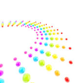 Background made of rainbow colored glossy spheres — Foto Stock