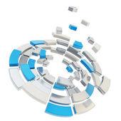 Round segmented circle composition defragmentation — Stock Photo
