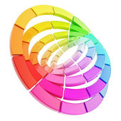 Color range spectrum circle round palette composition — Stock Photo