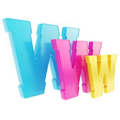 World wide web www letter symbol isolated — Photo