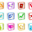Royalty-Free Stock Photo: Mobile app icon application emblems isolated