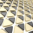 Abstract background made of glossy triangles - ストック写真