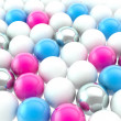 Stock Photo: Lot of spheres as abstract backdrop background