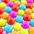 Rainbow colored background made of colorful spheres — Stock Photo #12681788