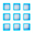 Copyspace cube square shelf boxes isolated — ストック写真
