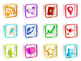 Mobile app icon application emblems isolated — Stock Photo