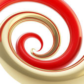 Twirled curve tube vortex as abstract background — Stock Photo