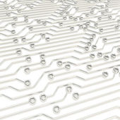 Microcircuit chip scheme as abstract background — Stock Photo