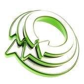 Recycle glossy emblem icon as circle round arrow — Stock Photo