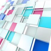 Futuristic copyspace background of cubic plates — Stock Photo