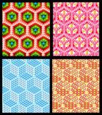 Texture de fond pour le cube transparent hexagone — Photo