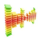 Sample statistic data dimensional emblem icon — Stock Photo