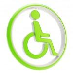 izole engelli özürlü kişi simgesi amblemi — Stok fotoğraf