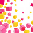 Cube copyspace composition as abstract backdrop - Stock Photo