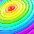 Abstract background made of glossy hoop torus rings - Stock Photo