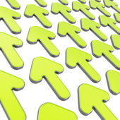 Group of arrows over white as abstract background — Stock Photo