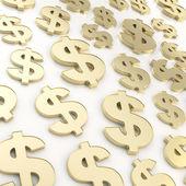 Composizione di usd americano dollaro moneta segno — Foto Stock