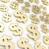 Dolar amerykański usd skład walutowy znak — Zdjęcie stockowe