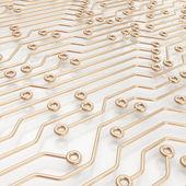 Esquema de chip microcircuito como abstrato — Foto Stock