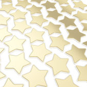 Abstract background made of golden stars — Stock Photo