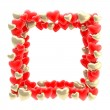 Square photo frame made of hearts isolated — Stock Photo #13907802