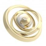 Earth globe emblem inside the ring torus isolated — Stock Photo #13908851