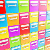 Accurate infinite rows of drawers as business background — Stock Photo