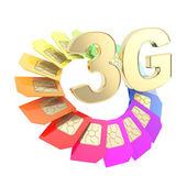 3G circuit microchip SIM card emblem isolated — Stock Photo