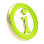 Info I letter in a circle as information emblem — Stockfoto